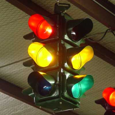 Also, These Early Signals Only Required Only Three Control Leads   Red (and  Opposite Green,) Yellow (all Four Directions) And Green (and Opposite Red.