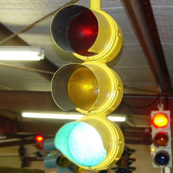 General Electric Streamline Traffic Signal