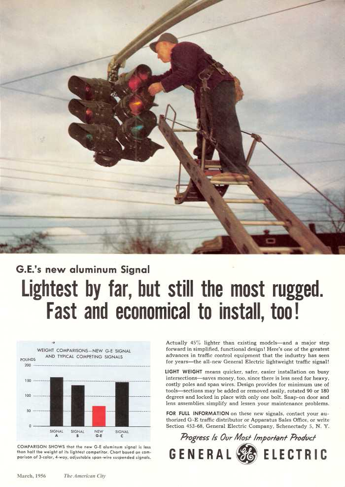 Old Traffic Signal Trade Ads, G-S