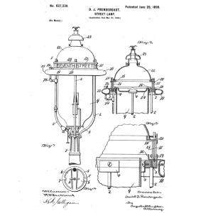Title Street-L& Inventor Daniel J. Prendergast Assignee Pennsylvania Globe Gas Light Company Claims Improved street l& powered by an oil reservoir.  sc 1 st  KBR Horse Net & Street Light Patents: 1894 - 1899 azcodes.com