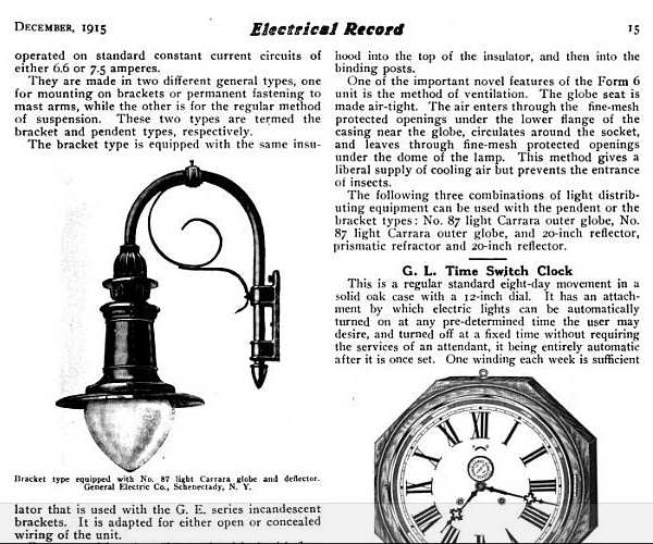 General Electric Novalux Form 6 with No. 87 Globe Street Light