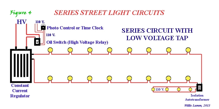 understanding series street light systems rh kbrhorse net Light Switch Wiring Diagram Light Fixture Wiring Diagram